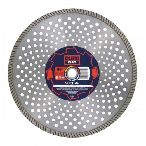 DURO Plus Continuous Rim Diamond Blade for Hard Materials 230mm x 22.23mm - DPH