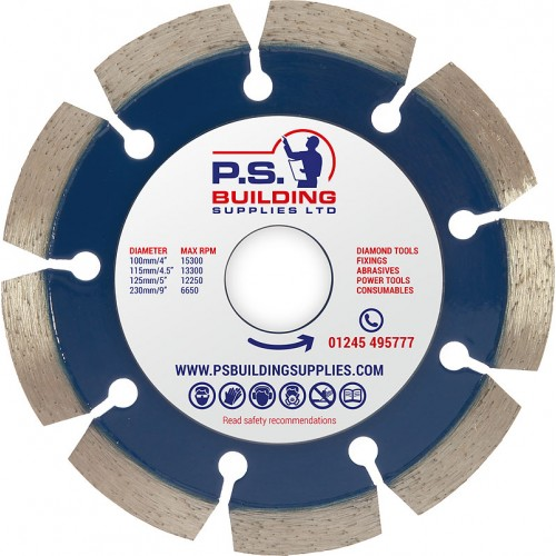 Professional Diamond Blade for Concrete 115mm x 22.23mm - PR15